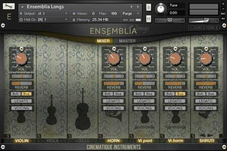 Cinematique-Instruments Ensemblia KONTAKT