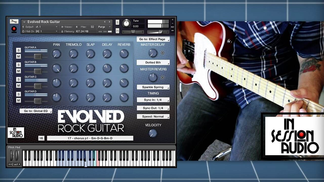 In Session Audio – Evolved Rock Guitar and Direct MULTiFORMAT