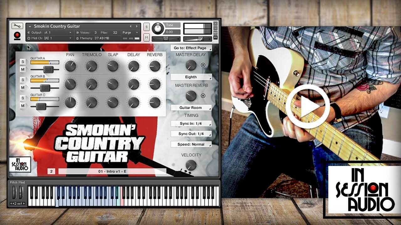 In Session Audio Smokin Country Guitar and Direct MULTiFORMAT