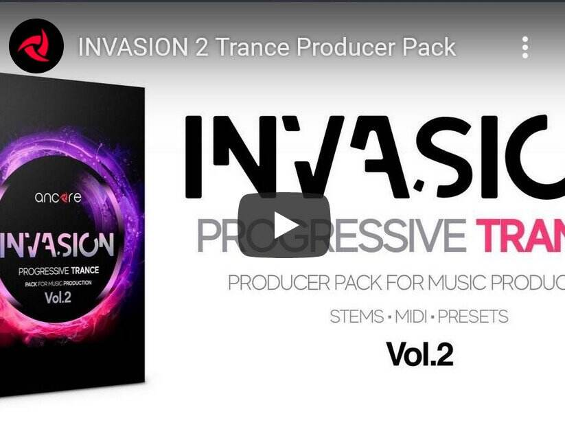 Ancore Sounds INVASION 2 Trance Producer Pack WAV MiDi SYNTH PRESETS-DISCOVER